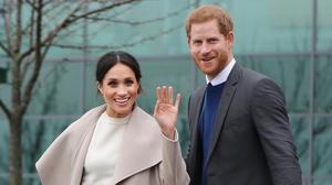 Prince Harry and Meghan Markle, pictured during a visit to Belfast, have invited members of the public into the grounds of Windsor Castle to enjoy their wedding day (Niall Carson/PA)