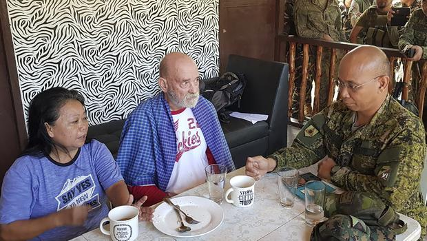 Alan and Wilma Hyron were abducted from a beach resort by gunmen in early October (Armed Forces of the Philippines, Joint Task Force Sulu via AP/ PA)