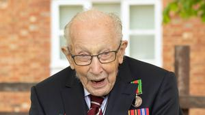 Captain Tom Moore's local pub will be kicking off a nationwide toast to veterans on Friday, to mark the 75th anniversary of VE Day (Emma Sohl/Capture the Light Photography/PA)