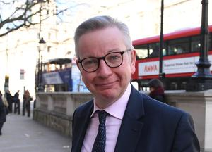 Michael Gove accused Brussels of refusing to bend on its demands (Stefan Rousseau/PA)