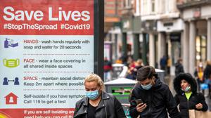 Shoppers in Nottingham as the area prepares to move into Tier 3 coronavirus restrictions (Joe Giddens/PA)