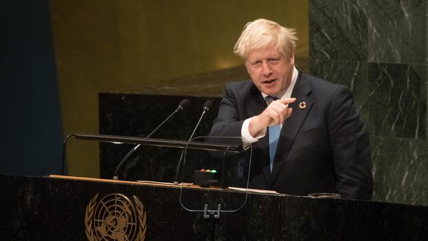 Prime Minister Boris Johnson made scant reference to Brexit during his final speech at the UN(Stefan Rousseau/PA)