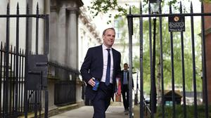 Foreign Secretary Dominic Raab said the UK could not force China's hand (Yui Mok/PA)