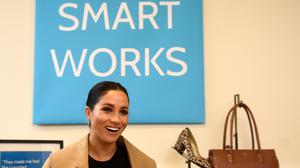 The Duchess of Sussex during her visit to Smart Works in London (Clodagh Kilcoyne/PA)
