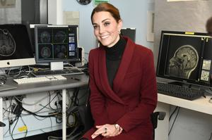 Kate was shown the unit's MRI scanning facility during the visit (Arthur Edwards/The Sun/PA)