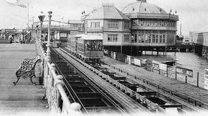 Ryde pier pavilion, tramway and transport, as the 200th anniversary of the opening of Britain's first seaside pier, Ryde pier on the Isle of Wight, is being marked today.
