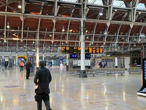 A quiet concourse at Paddington Station in London (Pete Clifton/PA)