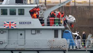 The suspect migrants were taken to the UK for processing by immigration officials (Gareth Fuller/PA)
