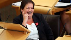 Scottish Labour deputy leader Jackie Baillie accused the Government of 'evasion' and 'secrecy' (Jane Barlow/PA)