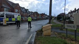 A police cordon in Harborne (West Midlands Police/PA)
