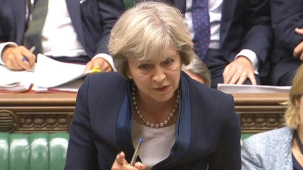 Theresa May said Jeremy Corbyn took advantage of a good education as her grammar schools policy was attacked