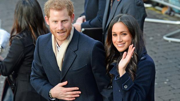 Meghan and Harry during their first royal engagement together, a visit to Nottingham last November. (Joe Giddens/PA)