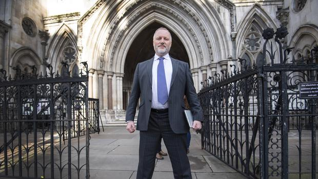 Former police officer Harry Miller outside the High Court in London (Victoria Jones/PA)