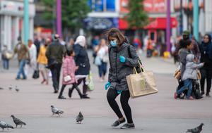 Shoppers on Humberstone Gate in Leicester (Joe Giddens/PA)