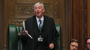 Sir Lindsay Hoyle has written to Matt Hancock and criticised his 'total disregard' for the Commons (UK Parliament/Jessica Taylor/PA)