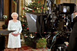 The Queen recording Christmas message to the Commonwealth in 2012 (John Stillwell/PA)