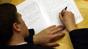 Completed coursework can still be used by teachers to estimate grades (David Jones/PA)