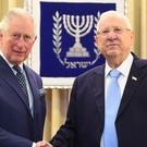 The Prince of Wales meets President Reuven Rivlin (Victoria Jones/PA)