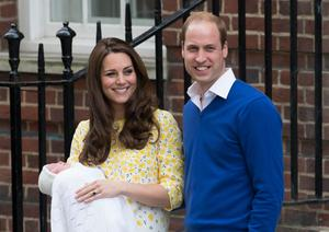 Princess Charlotte arrived less than three hours after the duchess was admitted to hospital (Daniel Leal-Olivas/PA)