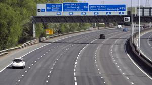A view of the M25 near Heathrow (Steve Parsons/PA)