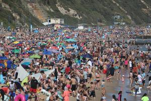 The council declared a major incident as beachgoers flocked to the south coast amid the UK heatwave (Andrew Matthews/PA)