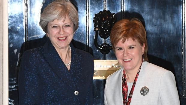 Nicola Sturgeon (right) is due to meet the PM in the 'coming days' – despite the UK Government cancelling a JMC meeting. (Stefan Rousseau/PA)