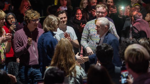He later launched Labour's youth manifesto at the University of Loughborough, telling students he 'enjoyed' the Question Time election programme in which he came under sustained criticism from voters in the audience (Joe Giddens/PA)