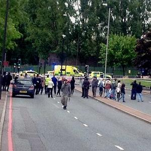 The scene where a man was killed and two others were taken to hospital with gunshot wounds following a 'serious incident' (Yusuf_Kayalar/PA)