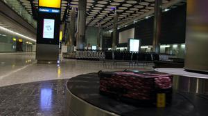 Baggage sits on one of the carousels in Heathrow's Terminal 5 (Steve Parsons/PA)