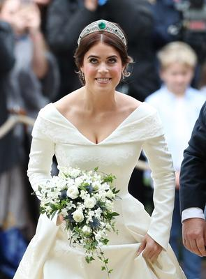 Princess Eugenie's bouquet was created by Patrice Van Helden Oakes (Yui Mok/PA)