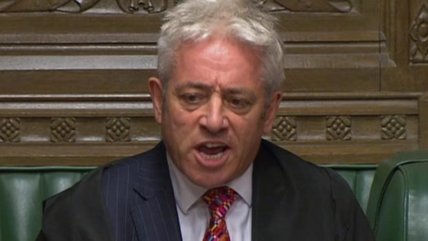 Former speaker John Bercow has been rebuked for naming Commons staff without their permission (House of Commons/PA)