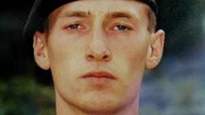 Private Sean Benton was found with five bullet wounds to his chest while undergoing training at the Surrey base