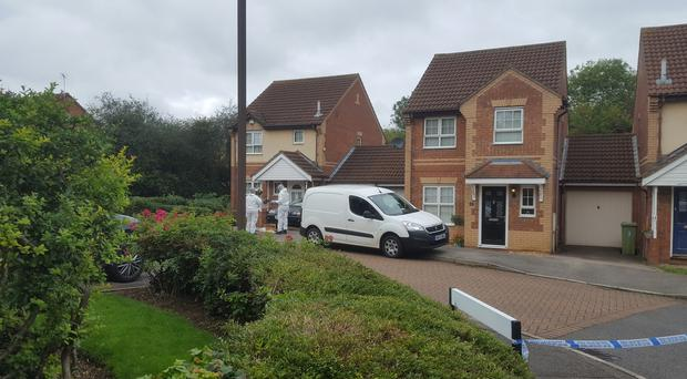 Police at a housing estate in Emerson Valley, Milton Keynes (Gus Carter/PA)