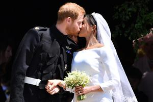 Harry and Meghan on their wedding day (Ben Stansall/PA)
