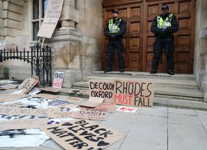There has been a long-running campaign to get rid of the statue of colonialist Cecil Rhodes (Steve Parsons/PA)