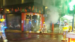 Ten fire engines and around 70 firefighters tackle a blaze in central London on Friday night (PA)Credit: (London Fire Brigade/ PA).