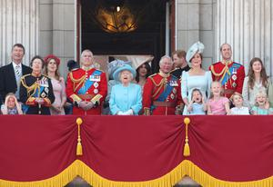 Anne with the royal family on the Buckingham Palace balcony (Yui Mok/PA)