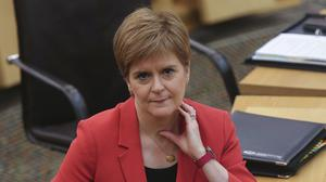 First Minister Nicola Sturgeon made the announcement at the Scottish Parliament (Fraser Bremner/Scottish Daily Mail/PA)