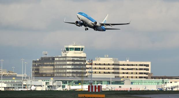 Flights were grounded at Manchester Airport (Martin Rickett/PA)