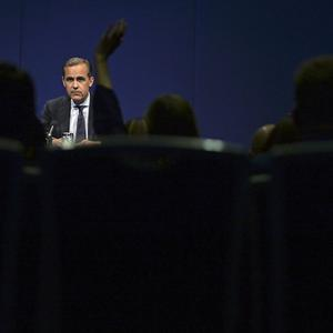 Mark Carney during a news conference following his address to business leaders
