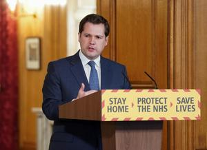Robert Jenrick during a media briefing in Downing Street (Pippa Fowles/Downing Street)