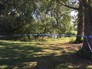 Forensic officers were in attendance at Wigginton Park on Friday morning (Josh Payne/PA)