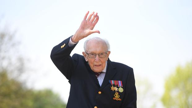 Captain Sir Tom Moore's funeral will be 'quite spectacular', his daughter Lucy Teixeira said (Joe Giddens/PA)