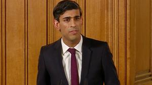 Rishi Sunak announces no limit to spending to keep the economy on track (PA)