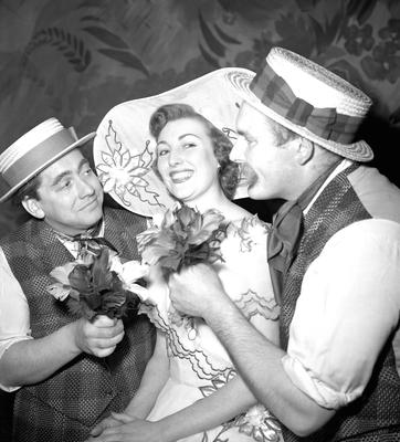 Vera Lynn with comedians Tony Hancock (left) and Jimmy Edwards