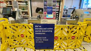 Tesco has introduced a raft of new measures to ensure social distancing for shoppers (Luciana Guerra/PA)