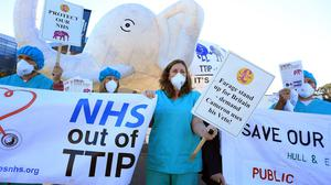 Campaigners against the TTIP trade deal