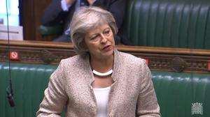 Former prime minister Theresa May wants a life prison term to be possible for those convicted of causing death by dangerous driving (House of Commons/PA)
