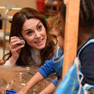 The Duchess of Cambridge during a visit to London Early Years Foundation Stockwell Gardens Nursery and Pre-school, in south west London (Phil Harris/Daily Mirror/PA)