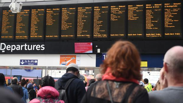 Every train run by the UK's busiest franchise, Govia Thameslink Railway, was rescheduled (PA)